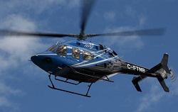 THe 429 departs Angel Stadium in Anaheim,CA. during flight demonstrations.